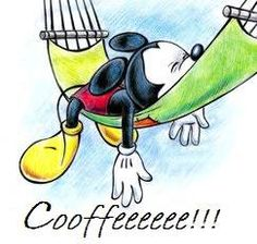 Even Mickey knows the pain of needing that first sip. feases y citas sobre el #café