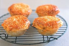 Chicken Curry Pies...Invite your friends around to watch the big game and serve them these tasty curry chicken pies with golden crusts.