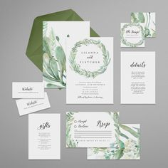 Printable Wedding Invitation Suite . Swoon . por HoneyPressAus