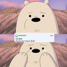 we bare bears Cute Panda Wallpaper, Cartoon Wallpaper Iphone, Sad Wallpaper, Cute Disney Wallpaper, We Bare Bears Wallpapers, Panda Wallpapers, Cute Cartoon Wallpapers, Ice Bear We Bare Bears, We Bear