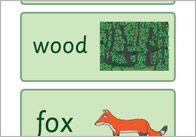 Gruffalo word cards