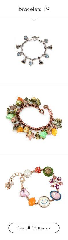 """""""Bracelets 19"""" by middletondonna ❤ liked on Polyvore featuring jewelry, bracelets, pulseira, blue topaz, charm, blue topaz jewelry, heart jewellery, heart charm, sterling silver heart charm and sterling silver charm bracelet"""