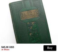 The New Garden Encyclopedia 1936, Vintage Gardening Book #gardening #vintagebook #etsy #sfuso