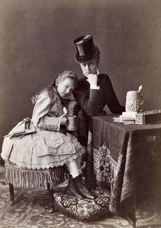 Marie Valerie with her older cousin Countess Marie Larisch-Wallersee
