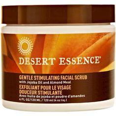 Desert Essence Gentle Stimulating Facial Scrub 4 Ounce for sale online Emergency Preparedness Items, Desert Essence, Unclog Pores, Facial Scrubs, Live Long, Dead Skin, Healthy Alternatives, Natural Health, Healthy Life