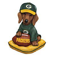 NFL-Licensed Green Bay Packers Dachshund Figurine
