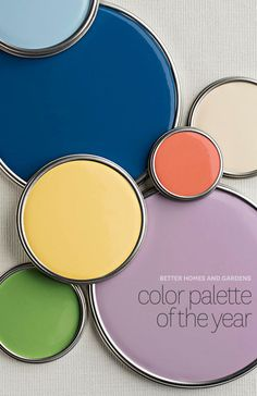 2014 BHG Color Palette of the Year with paint color names and inspiration.