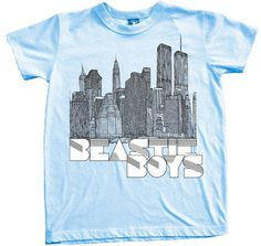 Chaser- Beastie Boys t-shirt. Chaser kids S/S cotton blend crew neck tee in baby blue Cute Boy Outfits, Little Boy Outfits, Kids Outfits, Rock T Shirts, Band Shirts, Beastie Boys T Shirt, Cute Little Boys, Everything Baby, Toddler Gifts