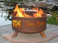 Fire pits always seem to instantly become the center of a great get together. The Idaho State University Bengals Fire Pit by Patina Products is no exception, designed to be the centerpiece of your tai