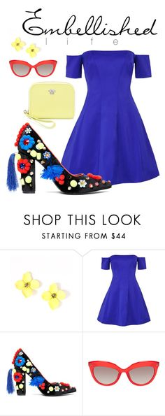 """""""E M B E L L I S H E D   L I F E"""" by salliekate-worley ❤ liked on Polyvore featuring Kendall + Kylie and Versace"""