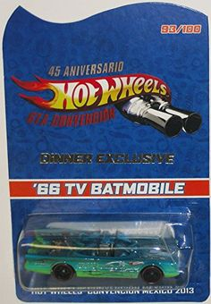 1966 TV Series BATMOBILE Hot Wheels 2014 Mexico Convention Very Rare Code-3 Limited Edition 1:64 Scale Collectible Die Cast Car Model Rides on Redline Real Riders Rubber Tires – Only 100 Made Worldwide!!!