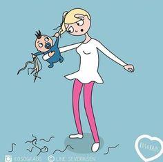15 ilustrações divertidas que todas as grávidas e mamães vão se identificar - Just Real Moms - Blog para Mães