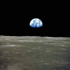 Earth from Moon surface