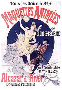 Maquettes Animées. Jules Cheret (1890)