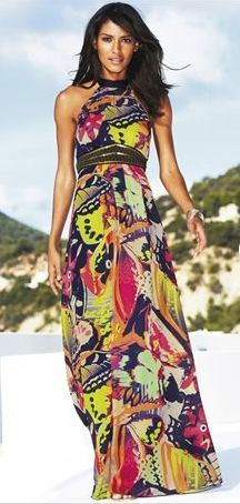 Beautiful Printed Halter Maxi from Next is the Dress of the Week! Wearable Art.  dressologyhq.blogspot.com.au