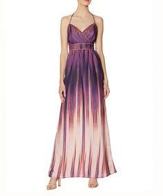 Love this Purple Halter Maxi Dress on #zulily! #zulilyfinds