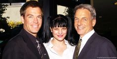 Mark Harmon, Pauley Perrette and Michael Weatherly