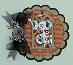 Cricut Halloween Card. Happy Hauntings, Winter Woodland, Christmas and Art Philosophy Cartridges. *