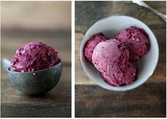 black raspberry and vanilla bean ice cream | naturally ella