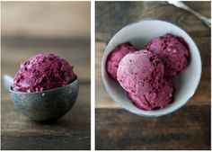 Black Raspberry and Vanilla Bean Ice Cream