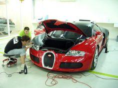 Bugatti 2007 EB Veyron 16.4 matte black+chrome