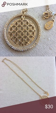 """LOFT gold and crystal pendant necklace NWOT LOFT gold and crystal pendant necklace NWOT. Approx length 36"""". LOFT Jewelry Necklaces"""