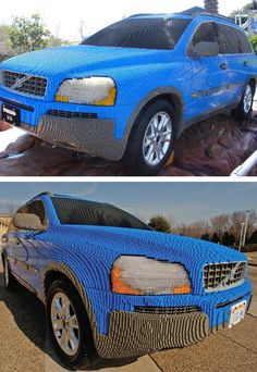 Had to do a double take - this car was made out of legos! Would you have the patience to assemble this?