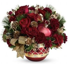 Christmas Bouquet::In an Oversized Mug. So Sweet for the Kitchen ...