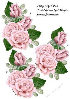 Step By Step Pastel Roses  by Marijke Kok  Step by Step pastel Roses.