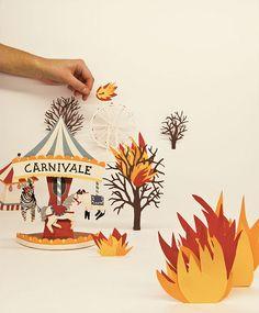 Sarah McNeil Diorama - fire!