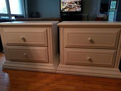 Door Furniture, Furniture Refinishing, Nightstand, Doors, Table, Red, Home Decor, Decoration Home, Room Decor