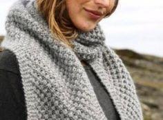 cachecol de trico passo a passo