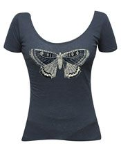 Annex Clothing | Victorian Butterfly Scoop Neck Tee | The Atomic Boutique.com