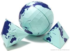 AuthaGraph Globe - The World's Most Accurate Globe The Winner of 2016 GOOD DESIGN GRAND AWARD  This AuthaGraph Globe is a paper craft globe kit showing the process making a 2D AuthaGraph world map.