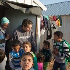 Ben Stiller meets Syrian refugee children in Jordan's Azraq refugee camp (323908)