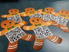 Jan Brett QR code gingerbread hunt