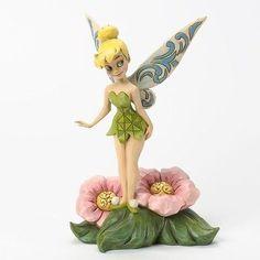 Jim Shore Flower Fairy Tinker Bell On Flower Figurine 4037505 Disney Traditions