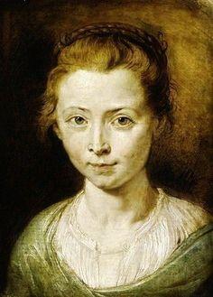 Peter Paul Rubens - Portrait of Clara Serena Rubens by Peter  Paul Rubens