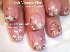 Soft Floral up for Monday! #nail #art #prom #flowers #floral #neutral #easy #elegant #ideas #dance #floral #design #tutorial #diy #simple #promnails #nails