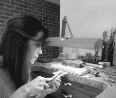 JOIDART.COM Carme Fàbregas, one of the Joid'art designers, working in her workshop. #joidart #joidartdesigners #jewelrymakers #barcelona #crafts #onlineshop #ss15 #contemporaryjewellery #anemona #jewelleryworkshop