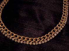 Necklace Rhinestone 1950's Priority Shipping Included by JMadisons on Etsy