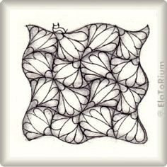 Zentangle-Pattern 'Cadenza' by Debbie New CZT, presented by www.musterquelle.de