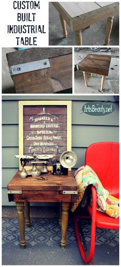 ART IS BEAUTY: Custom Built DIY Industrial Table Using Rescued Materials