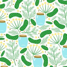 I love dill pickles, especially my grandma's! I used to help her can them when I was little. She grew the cucumbers, and even the dill! Here is a design with what you need to make dill pickles!