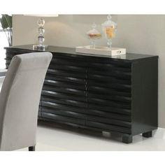 Amazon.com - Coaster Stanton Contemporary Buffet Server in Black Finish - Sideboards