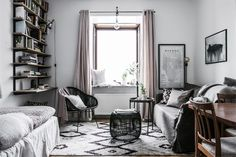 Studio apartment decor inspiration. Are you looking for unique and beautiful art photo prints to create your own art wall? Visit bx3foto.etsy.com and follow us on Instagram @bx3foto