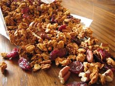 Cranberry Pecan Granola with applesauce