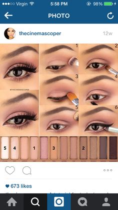 56 trendy makeup tutorial eyeshadow natural urban decay make up Eye Makeup Steps, Smokey Eye Makeup, Makeup Eyeshadow, Eyeshadow Brushes, Makeup 101, Makeup Looks, Makeup Ideas, Games Makeup, Pretty Makeup
