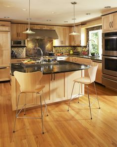 natural-maple-kitchen-wardrobes-contemporary-kitchen-with-backsplash-bar-stool-b … – Gray Espresso Kitchen Cabinets Birch Cabinets, Maple Kitchen Cabinets, Kitchen Redo, New Kitchen, Wooden Kitchen, Slate Kitchen, Kitchen Island, Kitchen Ideas, Shaker Cabinets
