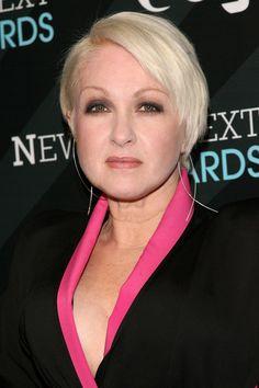 Cyndi Lauper's Bleached Blonde Cut (Hairstyle Ideas)